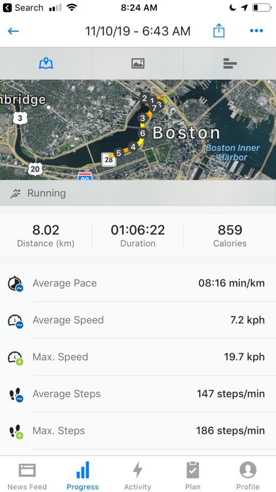 Route boston